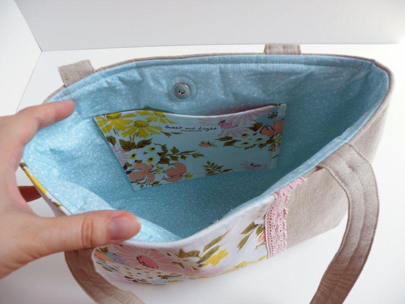 Floral purse inside