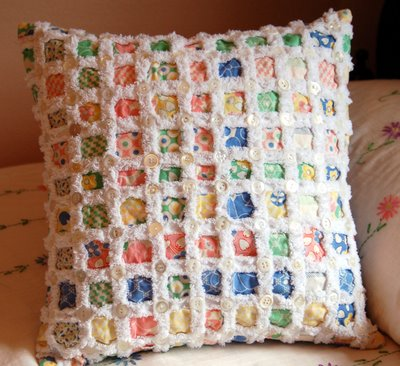 Chenille pillow