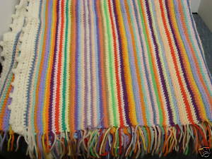 Vintage stripe afghan